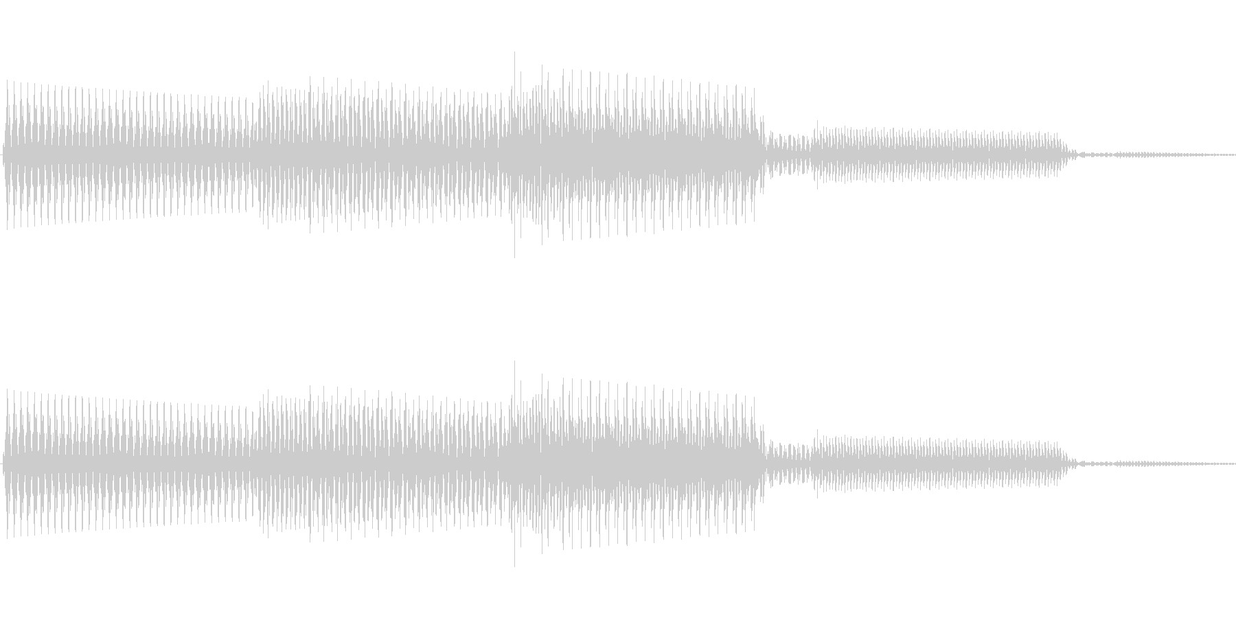 ボタン決定音システム選択タッチ登録B01の未再生の波形