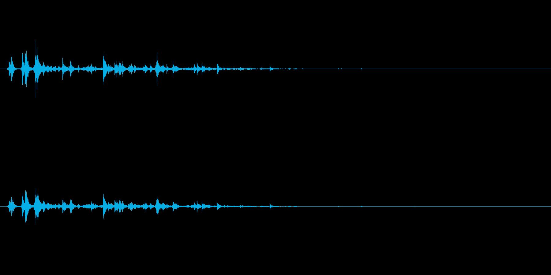 パリパリーン(氷を割る音)の再生済みの波形