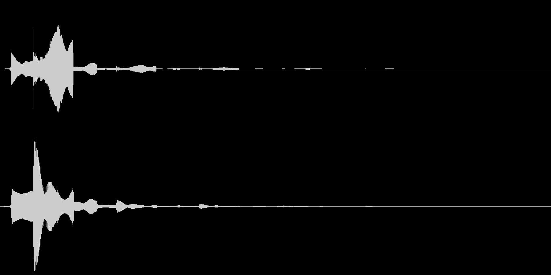 カーソルボタン(決定音)の未再生の波形