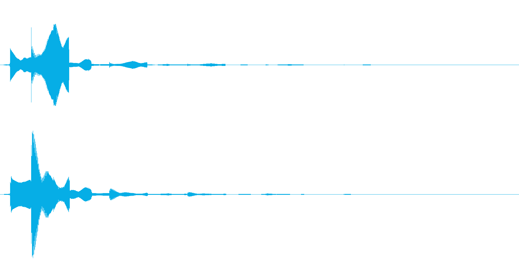 カーソルボタン(決定音)の再生済みの波形