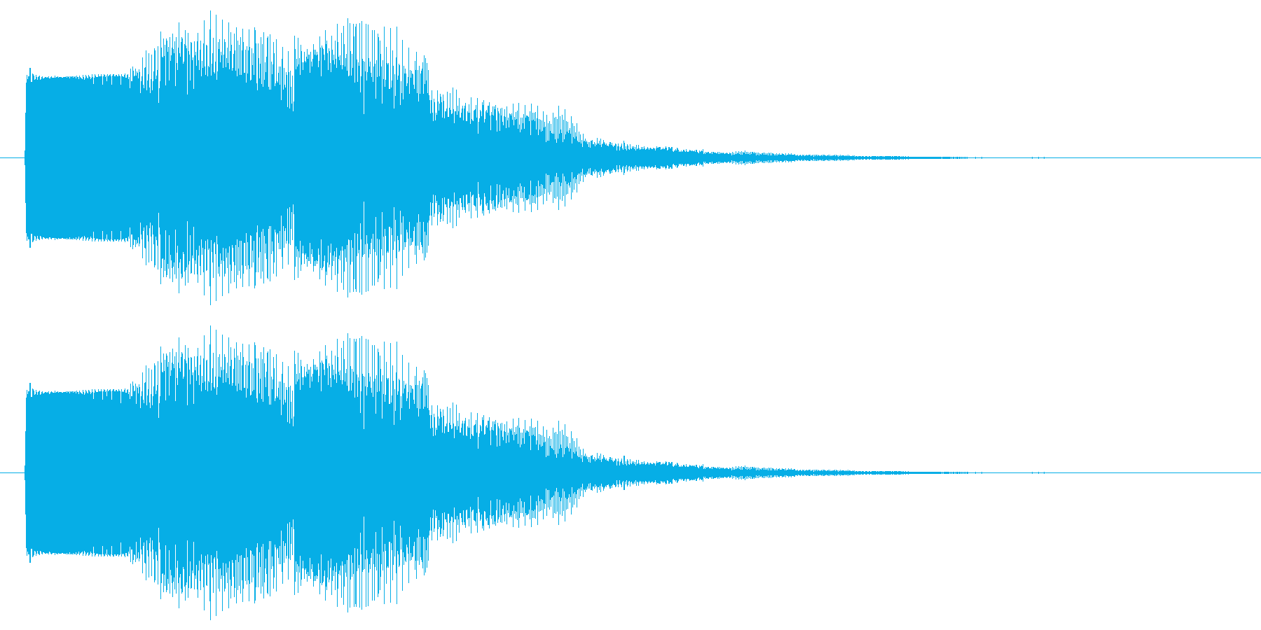 セレクト 決定 選択 クリック 低音版の再生済みの波形