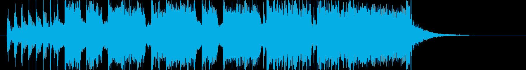 緊迫した重めのロック15秒バージョンの再生済みの波形