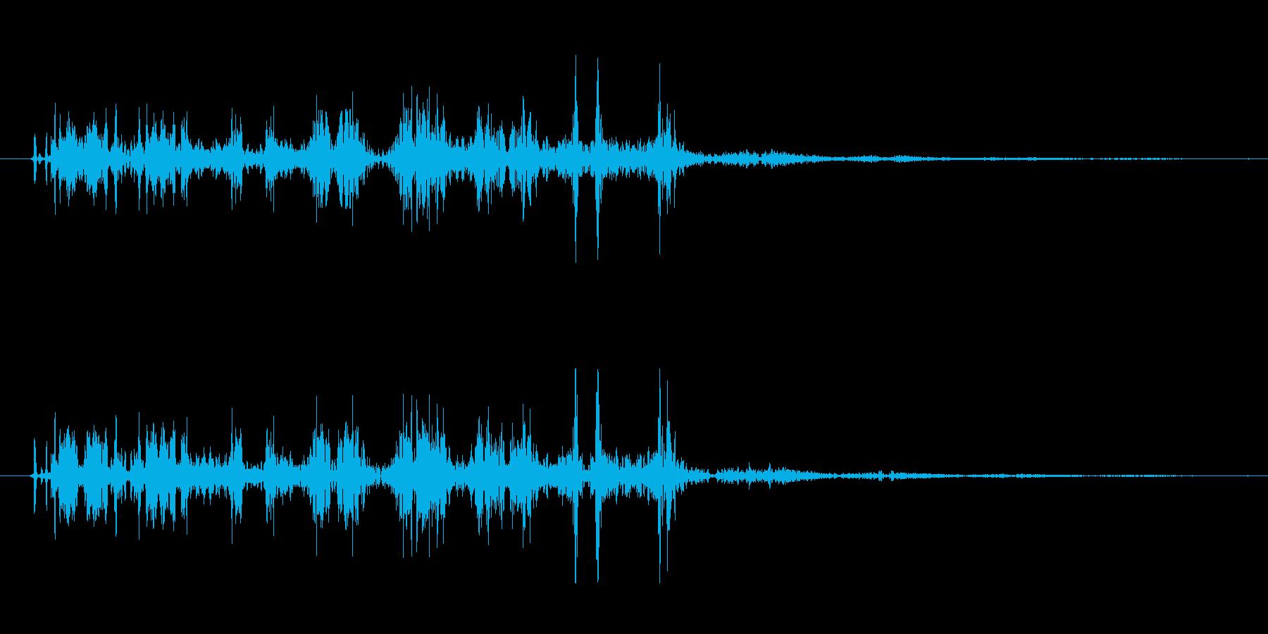 毒魔法(まとわりつく猛毒)の再生済みの波形