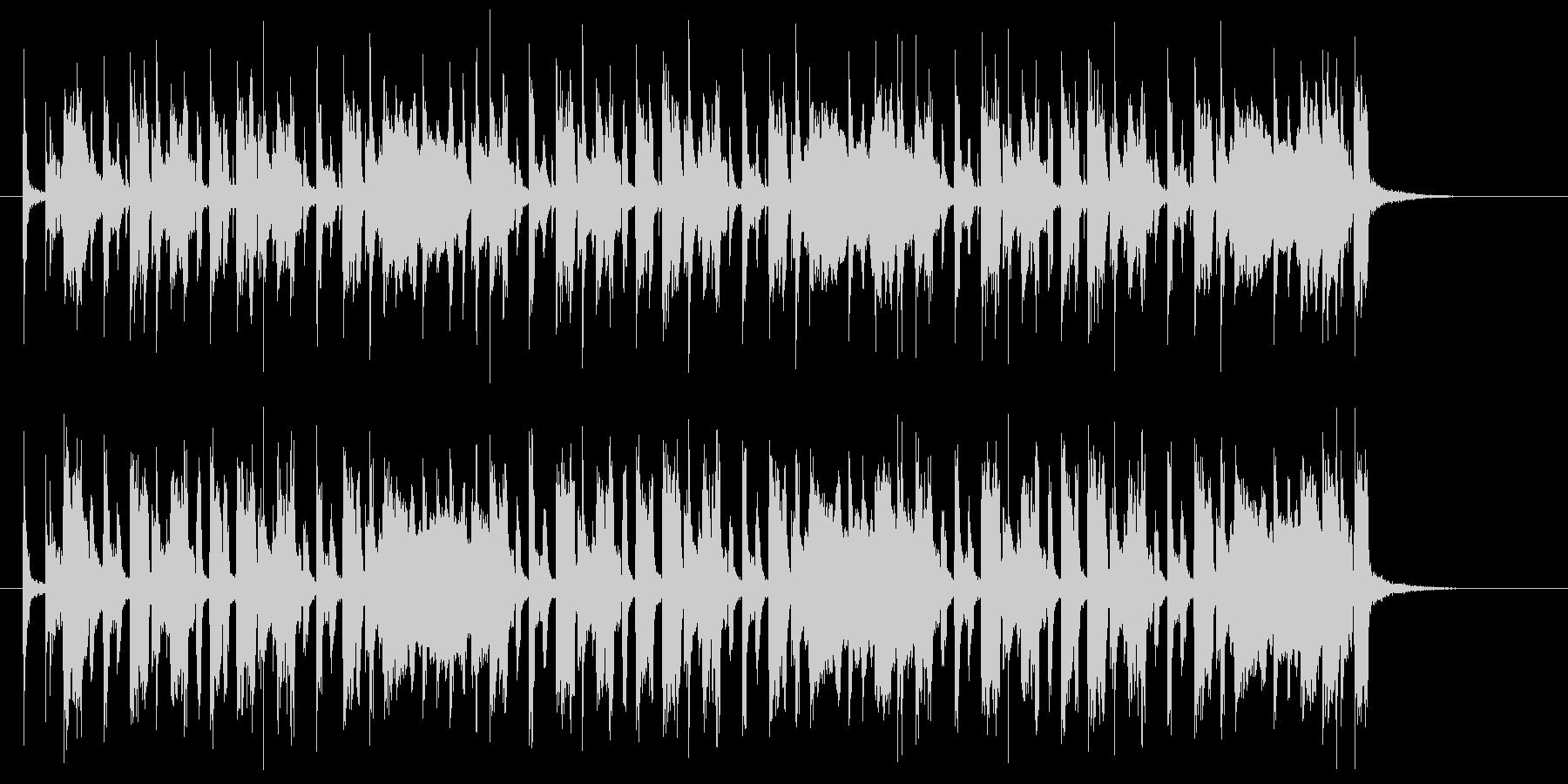 アップテンポな明るい音楽の未再生の波形