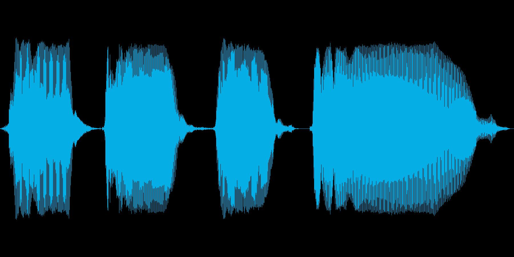 ぴんぽんぴんぽんの再生済みの波形