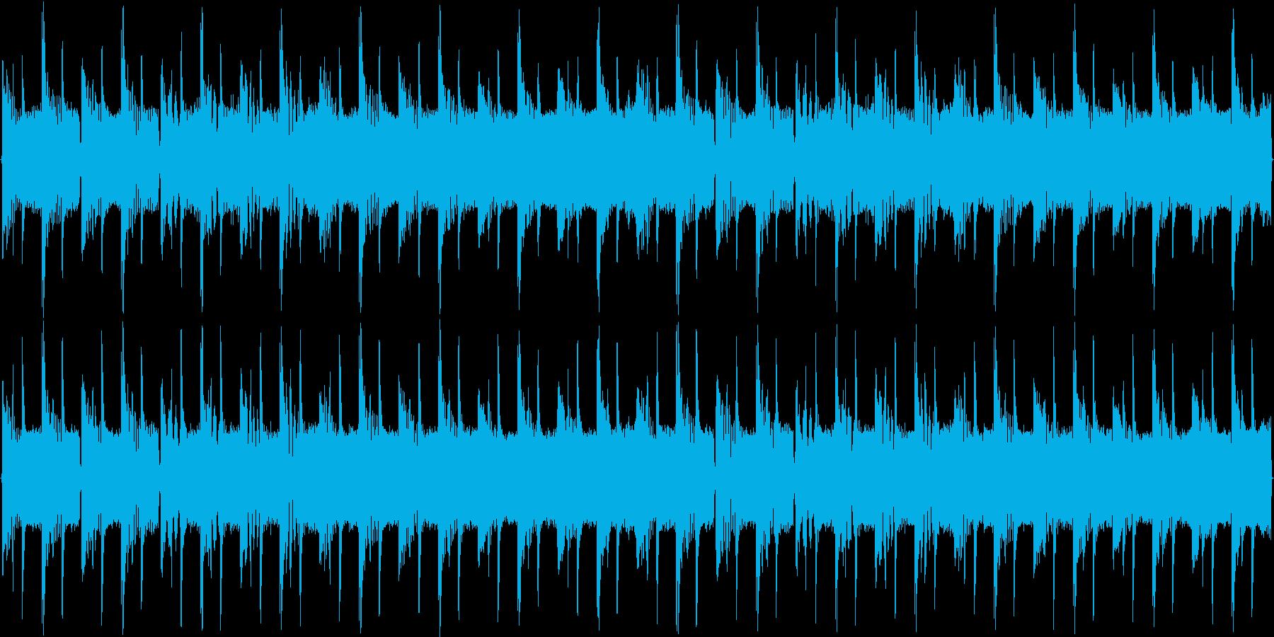 ベーシックな短調EDMの再生済みの波形