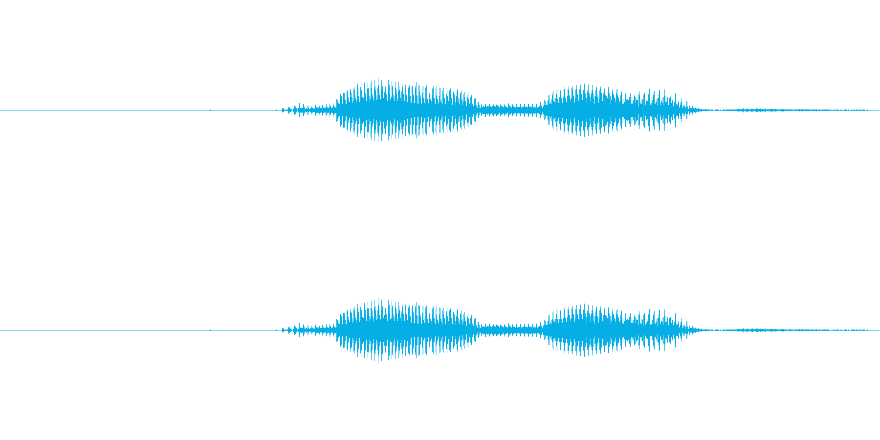 「ねぇねぇ」の再生済みの波形
