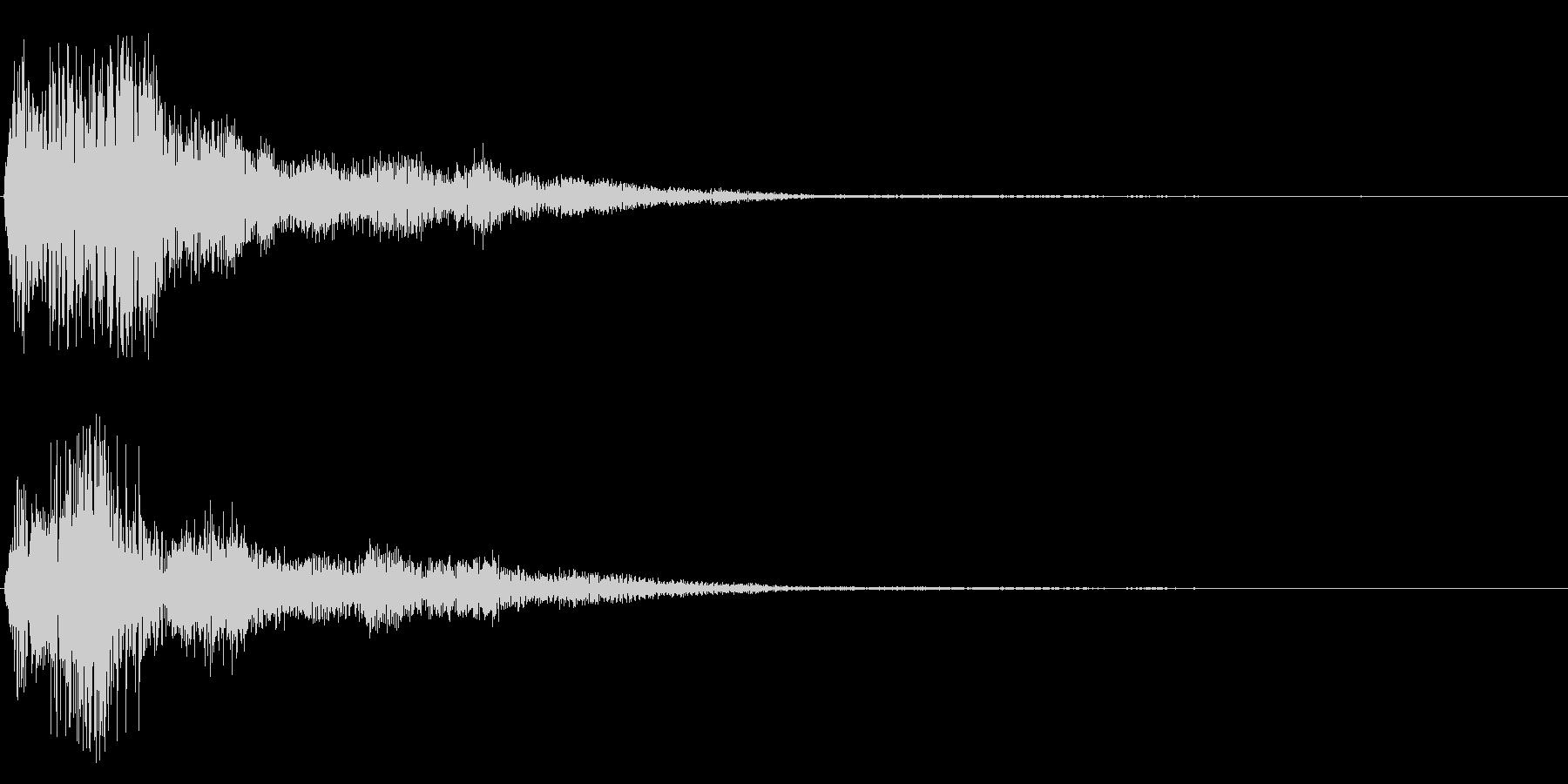 清らかで優しい効果音の未再生の波形