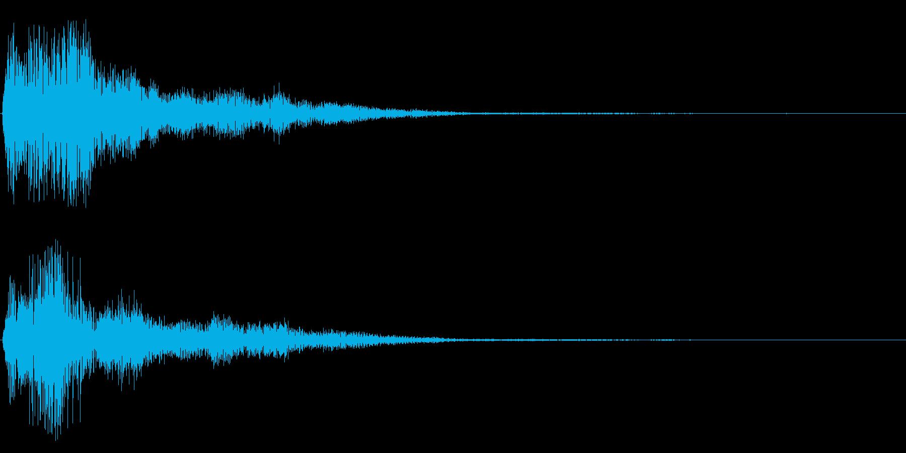 清らかで優しい効果音の再生済みの波形