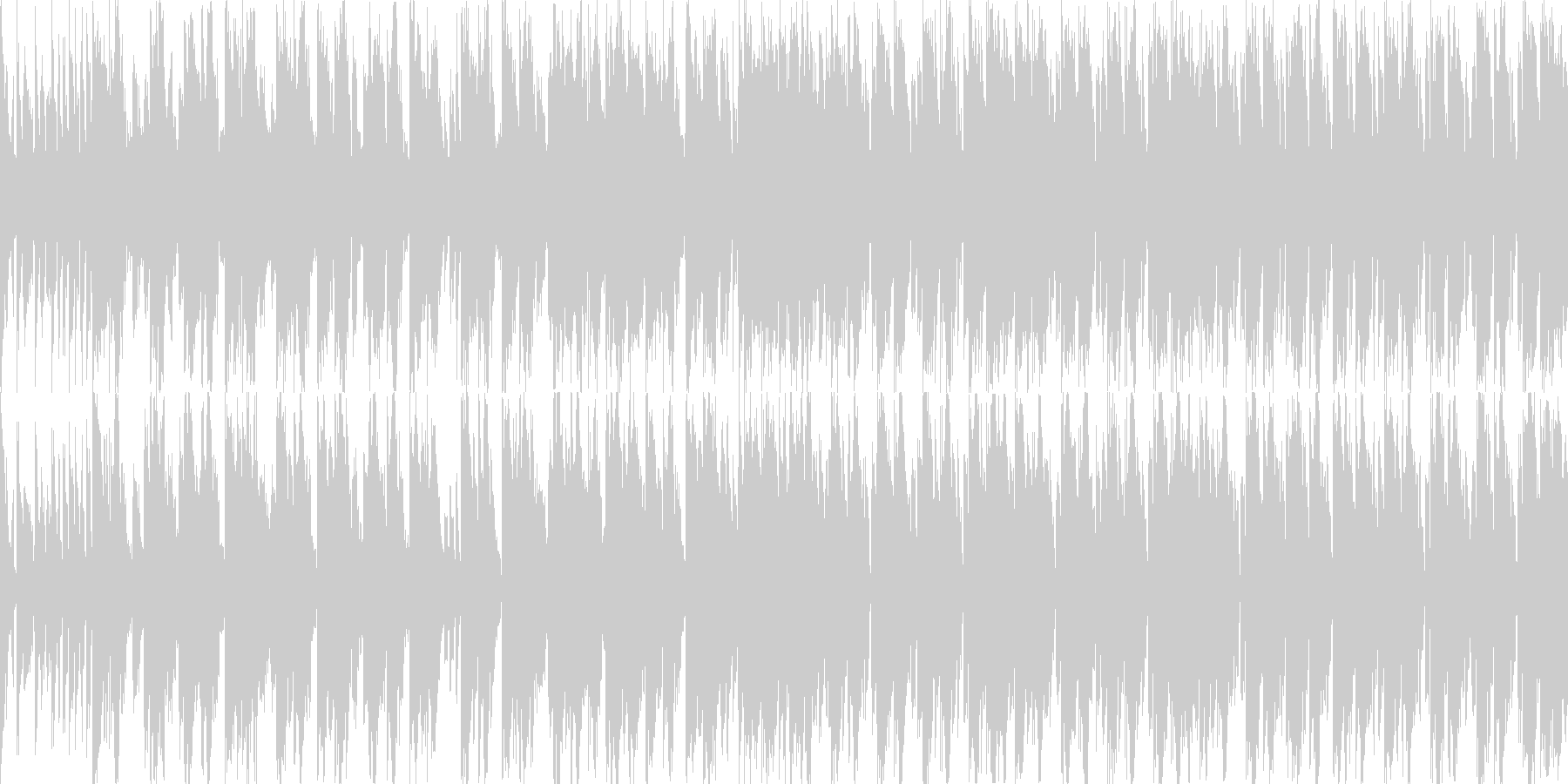 【BPM125】明るい雰囲気のエレクトロの未再生の波形