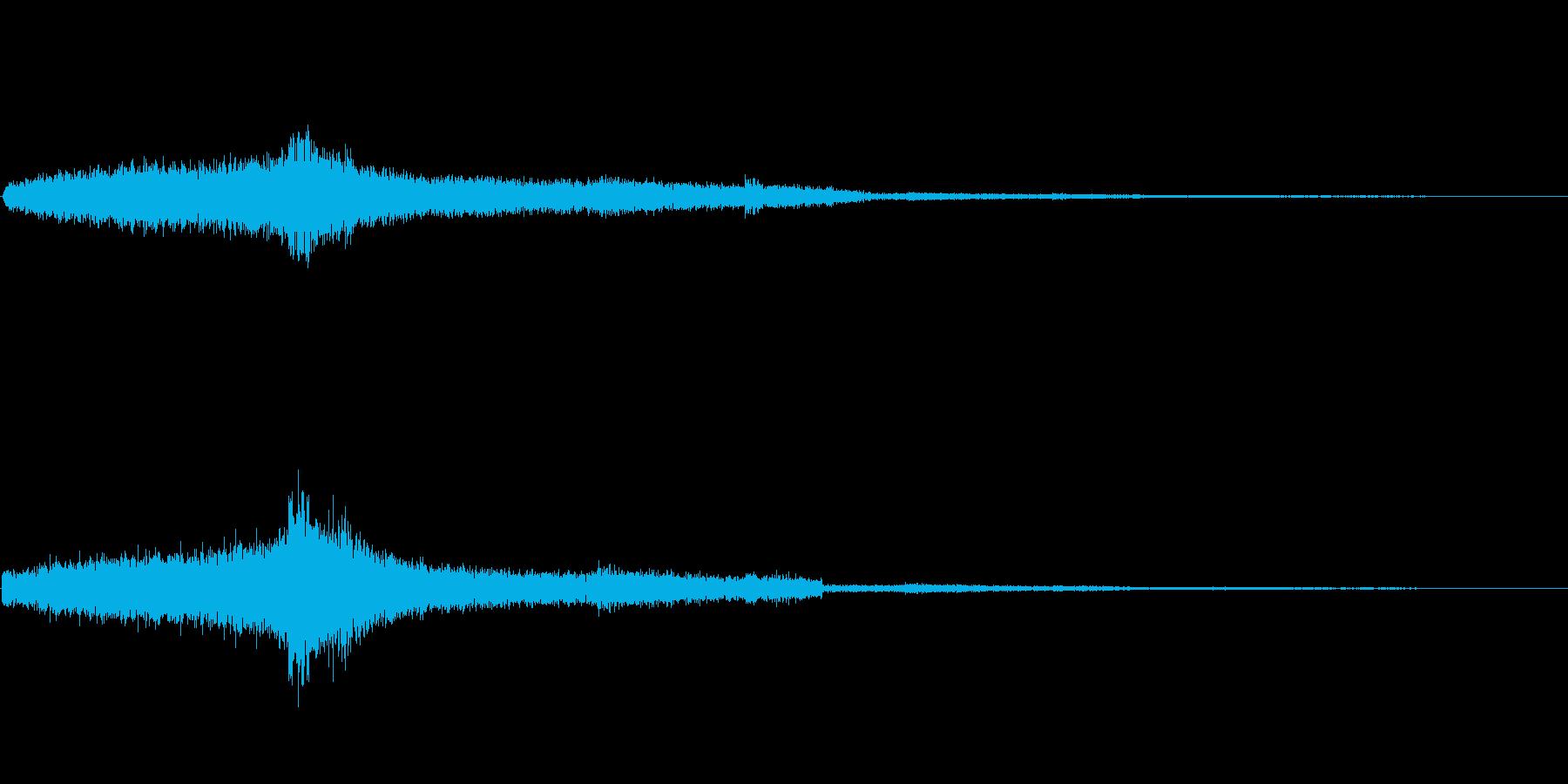 シュボッ(完了)の再生済みの波形