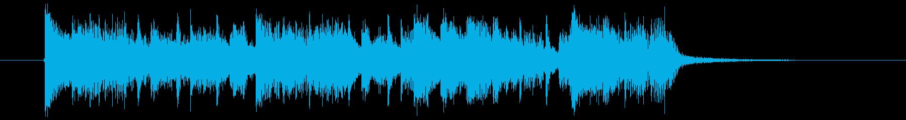 アップテンポでスピーディー声入りジングルの再生済みの波形