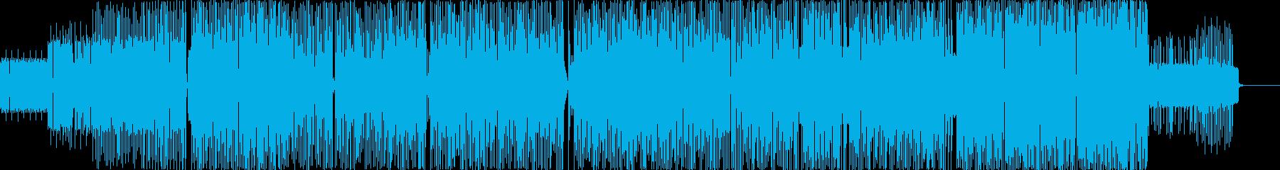 色々なメロディが入り乱れるピコピコ曲の再生済みの波形