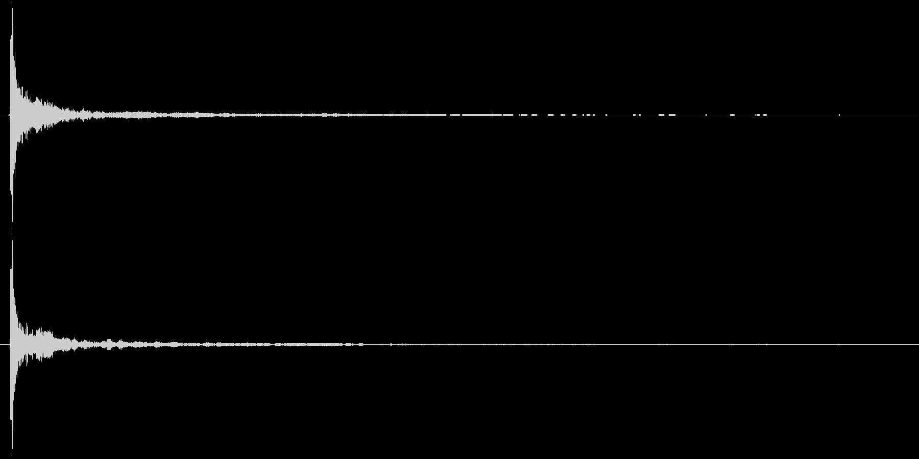 音侍SE「ココン!」太めの竹を叩いた音1の未再生の波形
