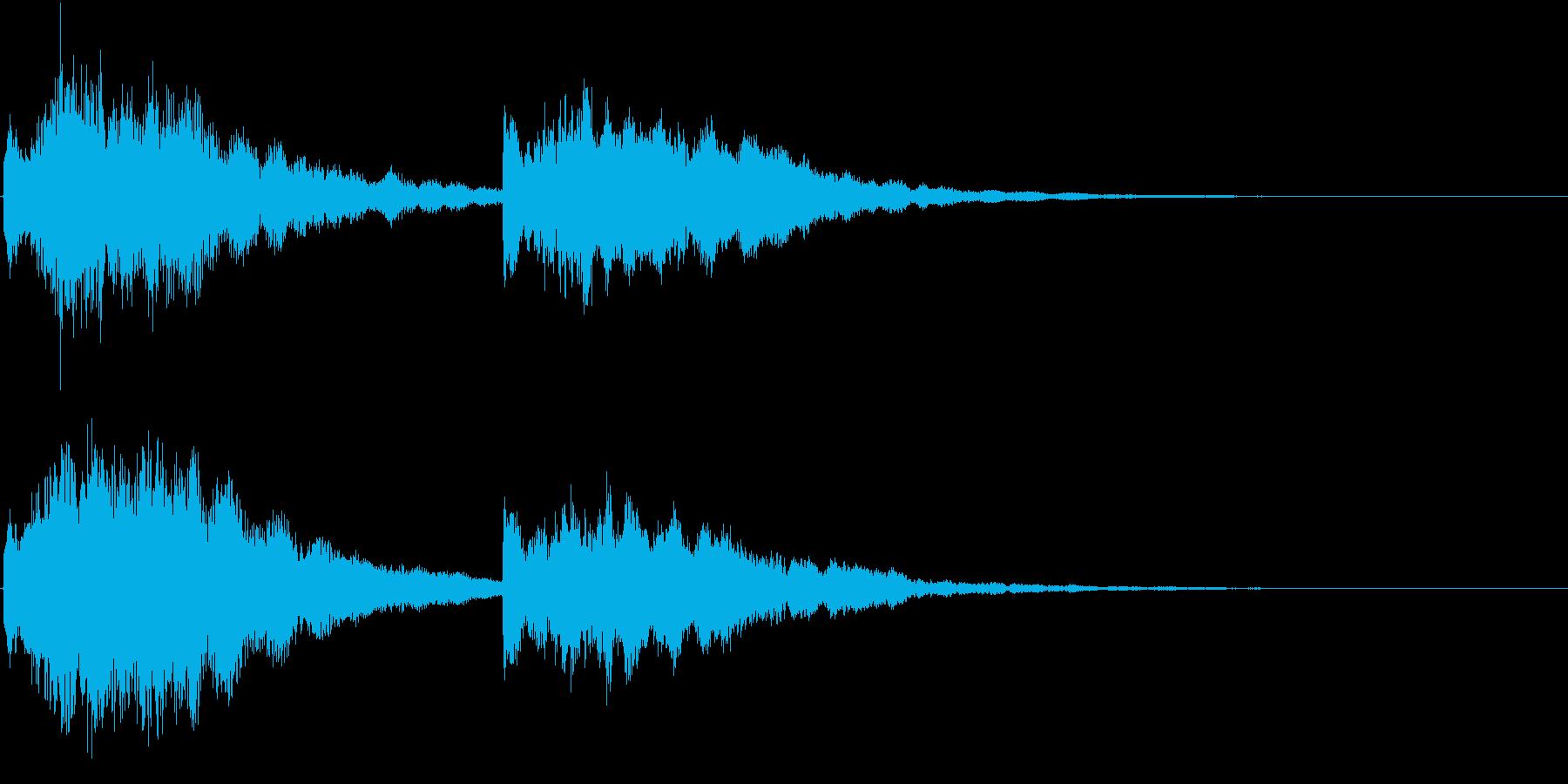 自然と調和した静かな波のような電子音の再生済みの波形