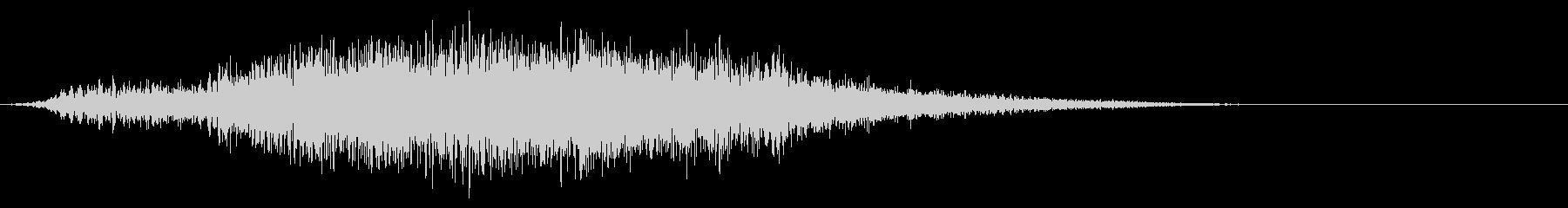 インパクトのあるタイトルロゴにの未再生の波形