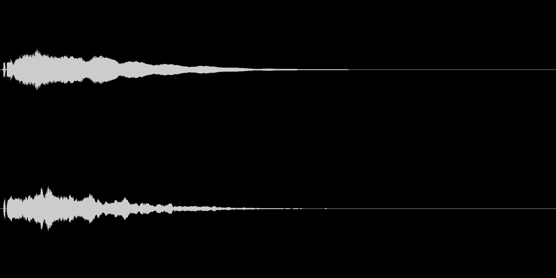 ポーン(ソナーみたいな音)の未再生の波形