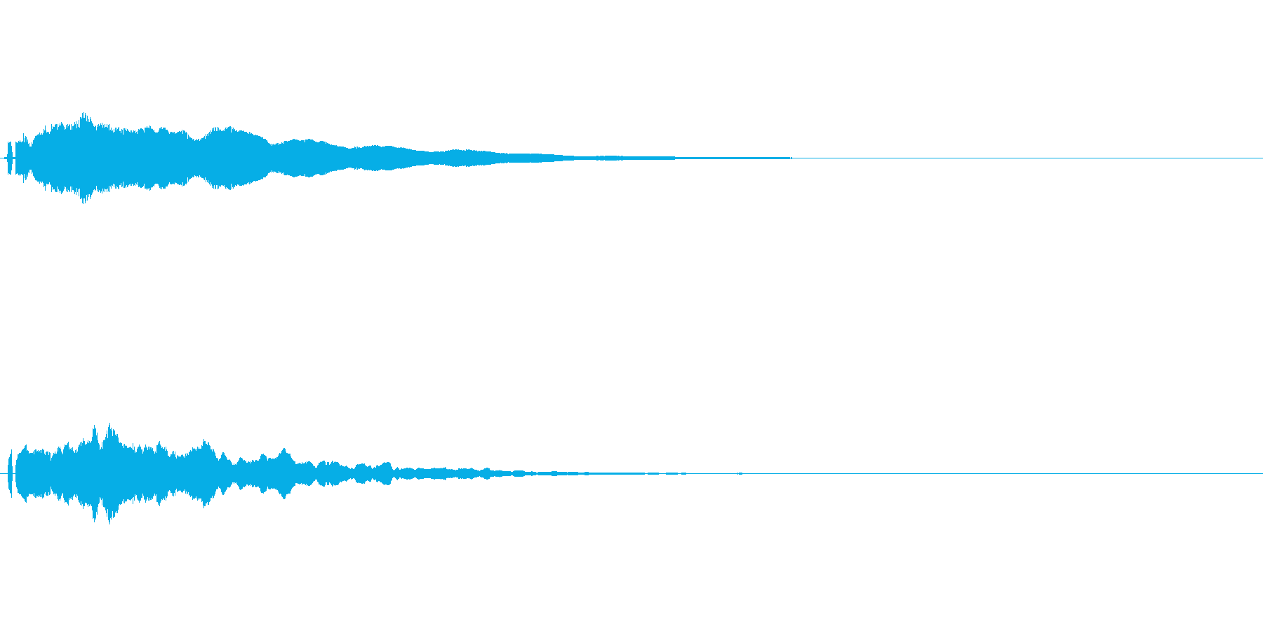 ポーン(ソナーみたいな音)の再生済みの波形