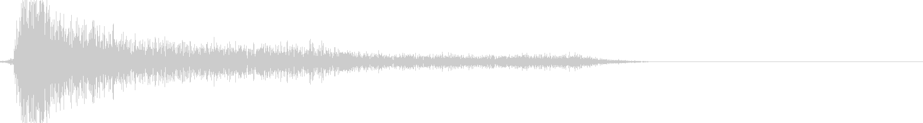 レトロゲームの金属音(剣で攻撃など)の未再生の波形