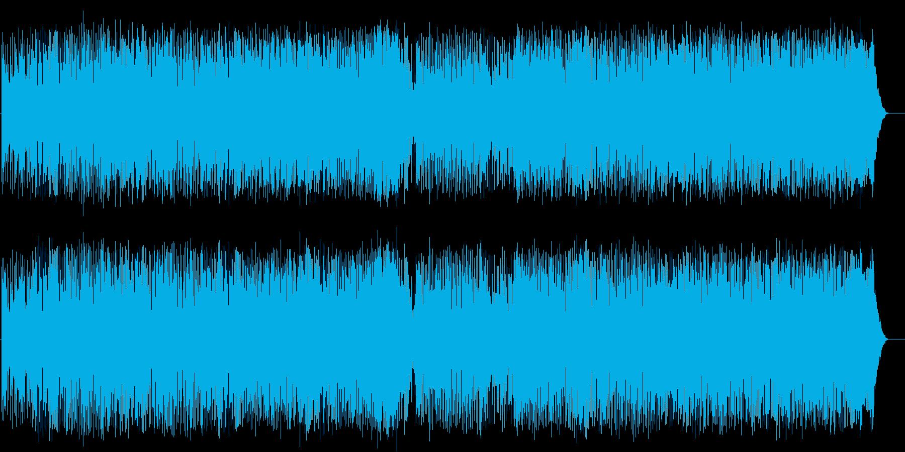 爽快なフュージョンポップ(フルサイズ)の再生済みの波形