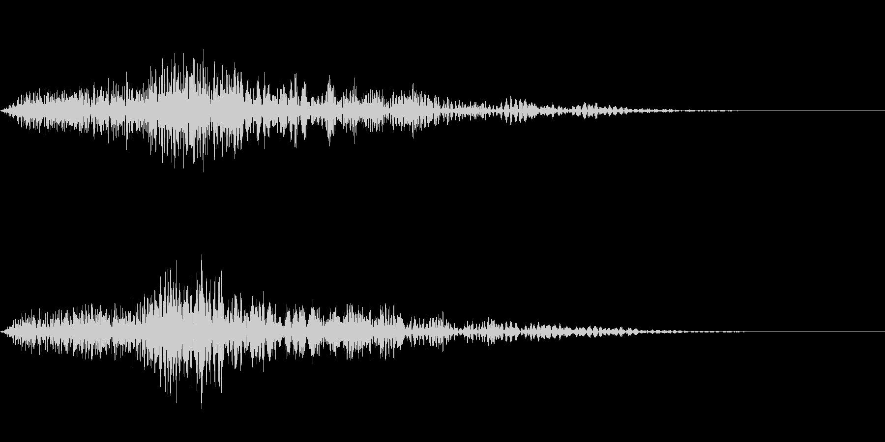 シンプルなキャンセル音です。の未再生の波形