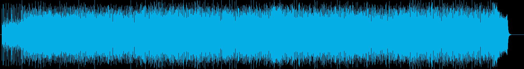 爽快感溢れるミュージックの再生済みの波形