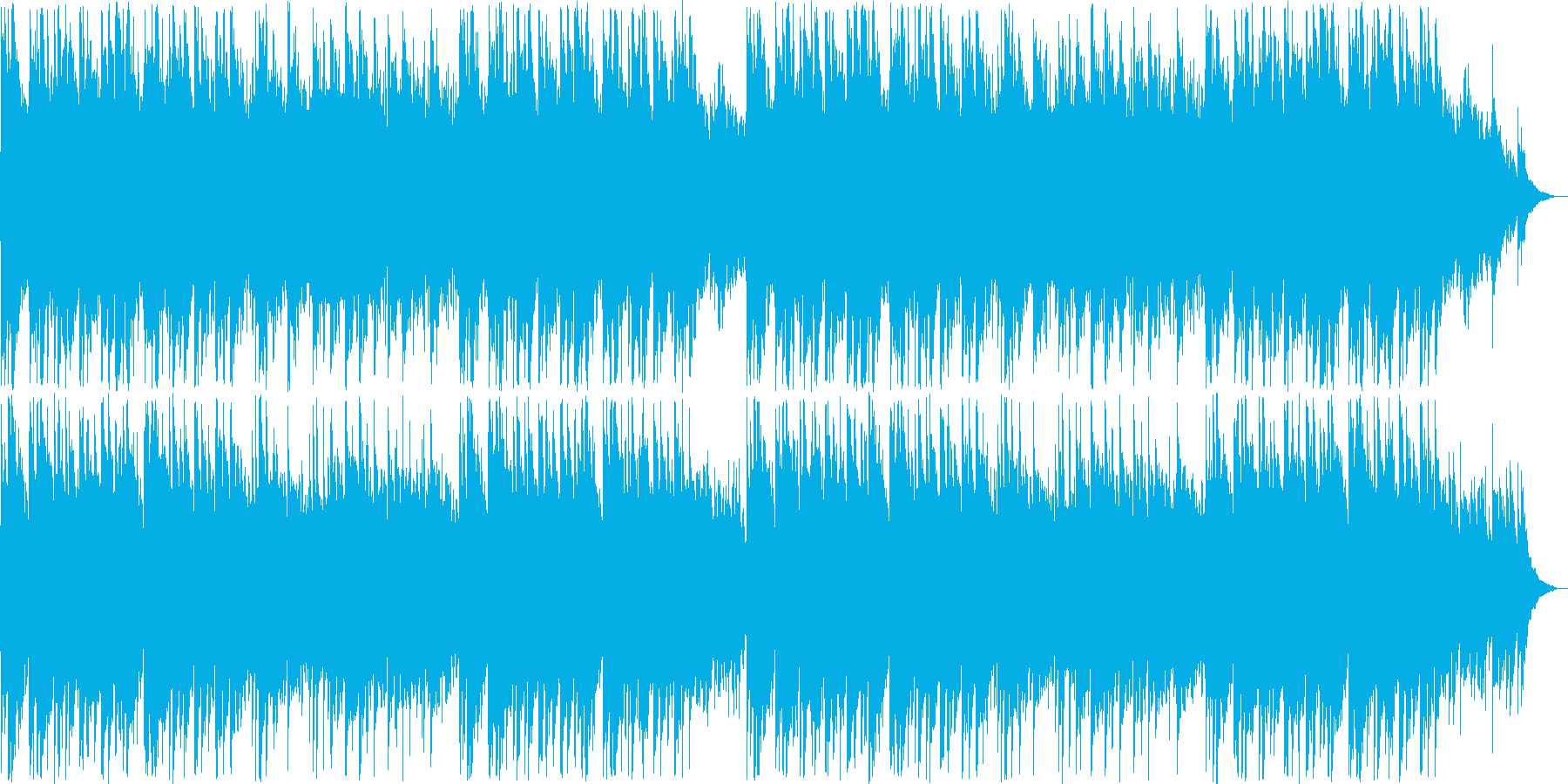 優しいピアノ・シンセサウンドの再生済みの波形
