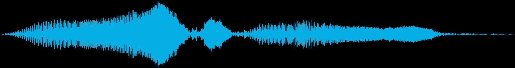 ピヨン(感情:怒る)の再生済みの波形