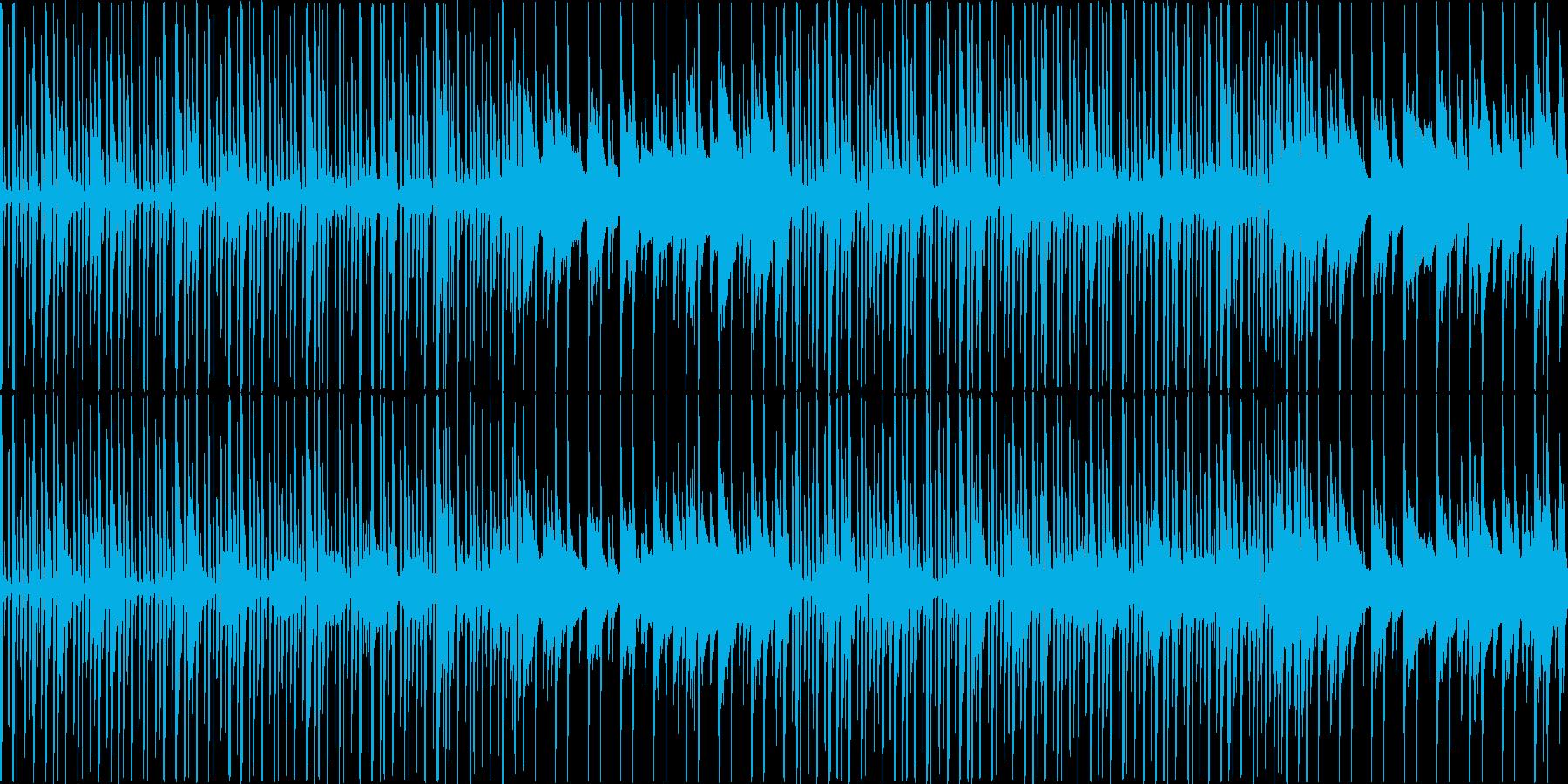 ほのぼの明るい素朴なBGMの再生済みの波形