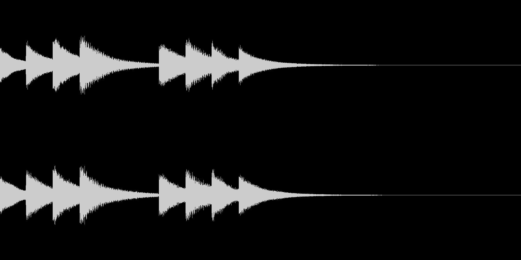 始業・終業 学校のチャイム03の未再生の波形