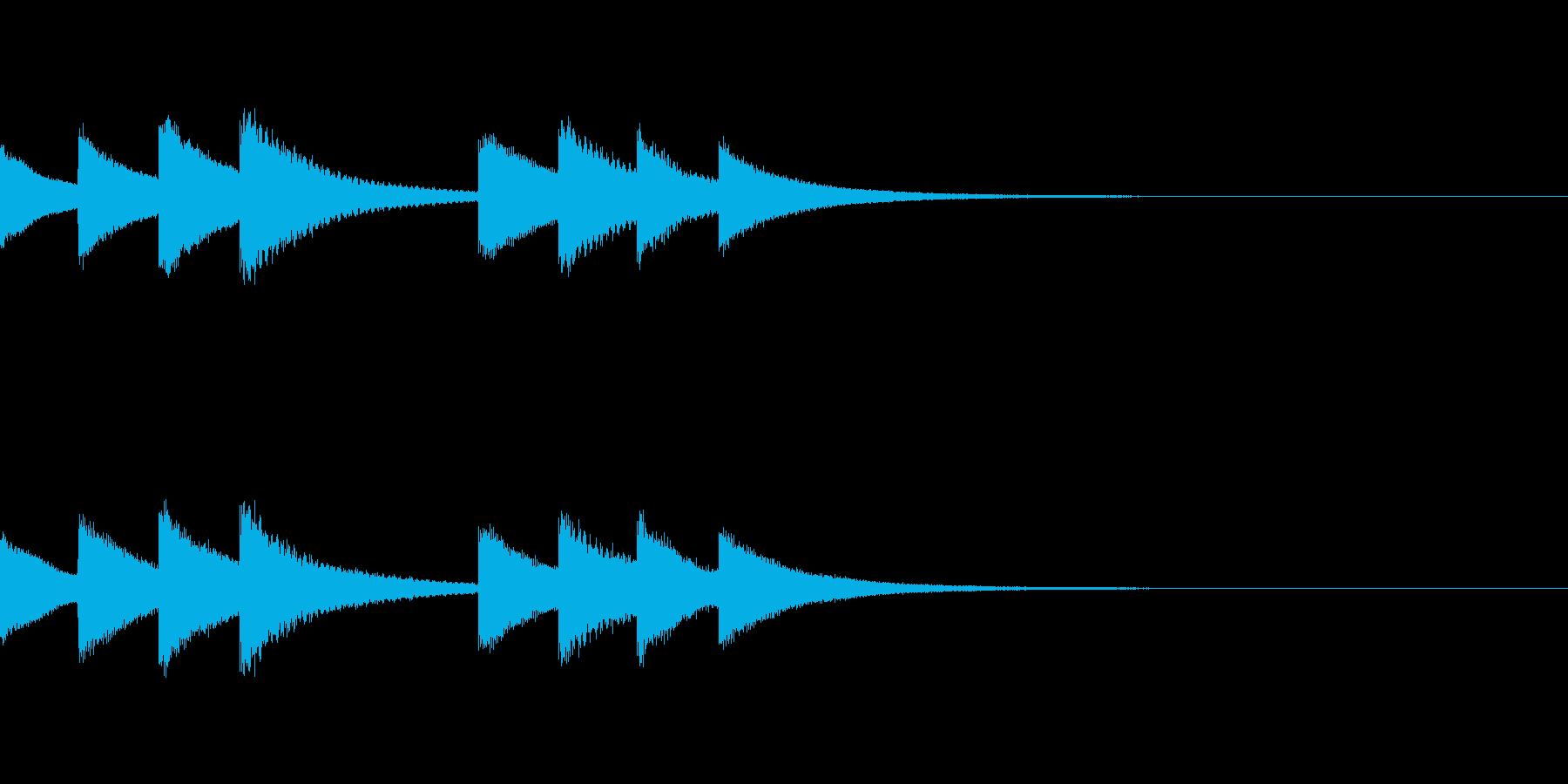 始業・終業 学校のチャイム03の再生済みの波形