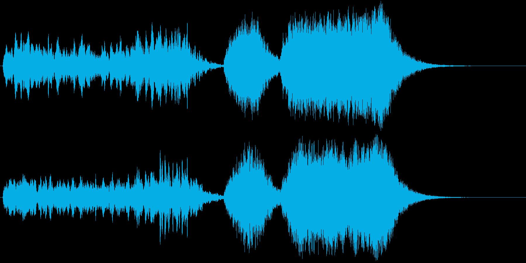 開幕のファンファーレの再生済みの波形