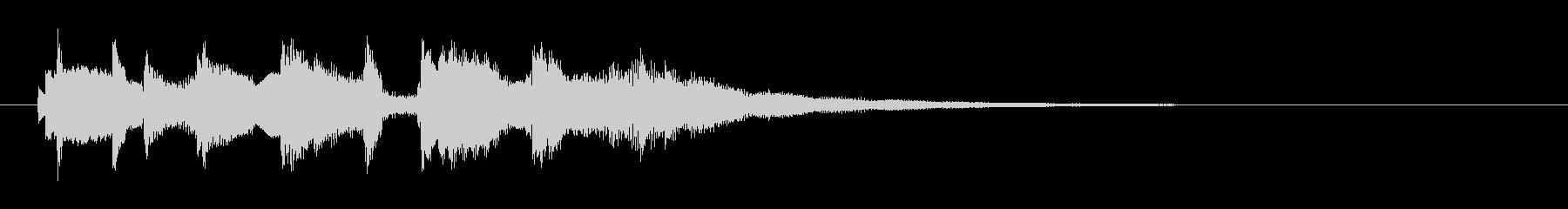 エレピのおしゃれで上品なジングル・ロゴの未再生の波形