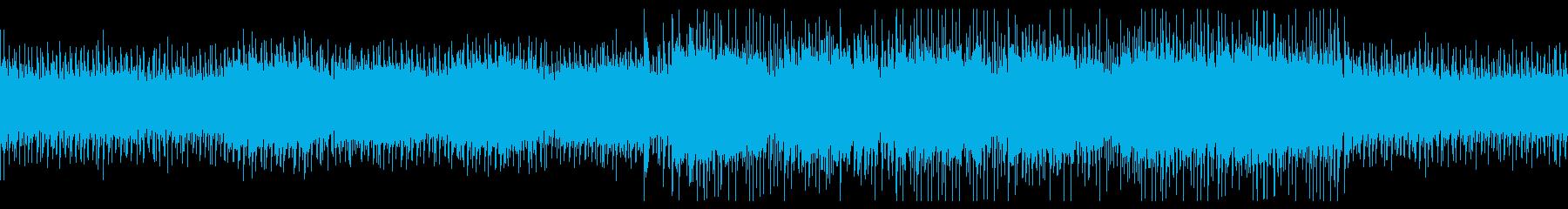 無機質・人工的・電脳的なエレクトロBGMの再生済みの波形