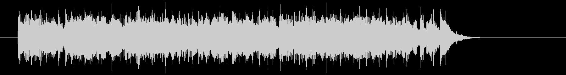 明るく充実した短めのシンセサイザーの曲の未再生の波形