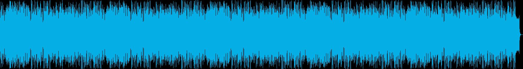 明るく爽やかなリズミカルな音楽の再生済みの波形