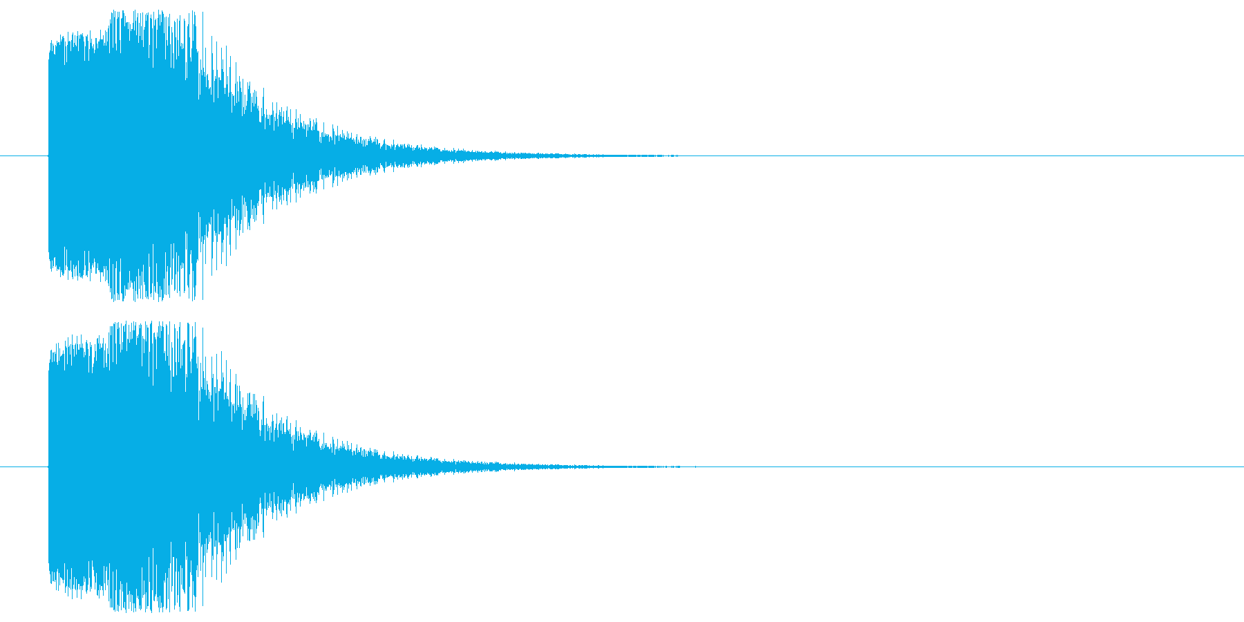 突如登場の再生済みの波形