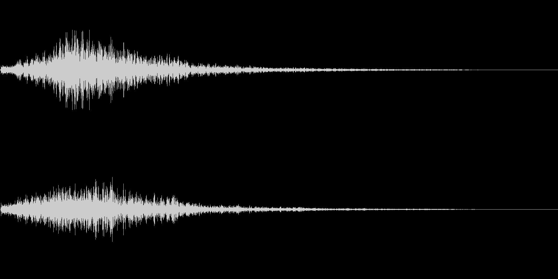 ヒュッ(場面転換)の未再生の波形