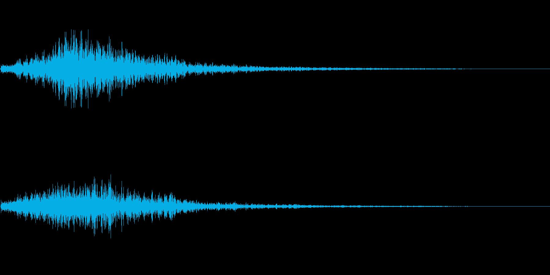 ヒュッ(場面転換)の再生済みの波形