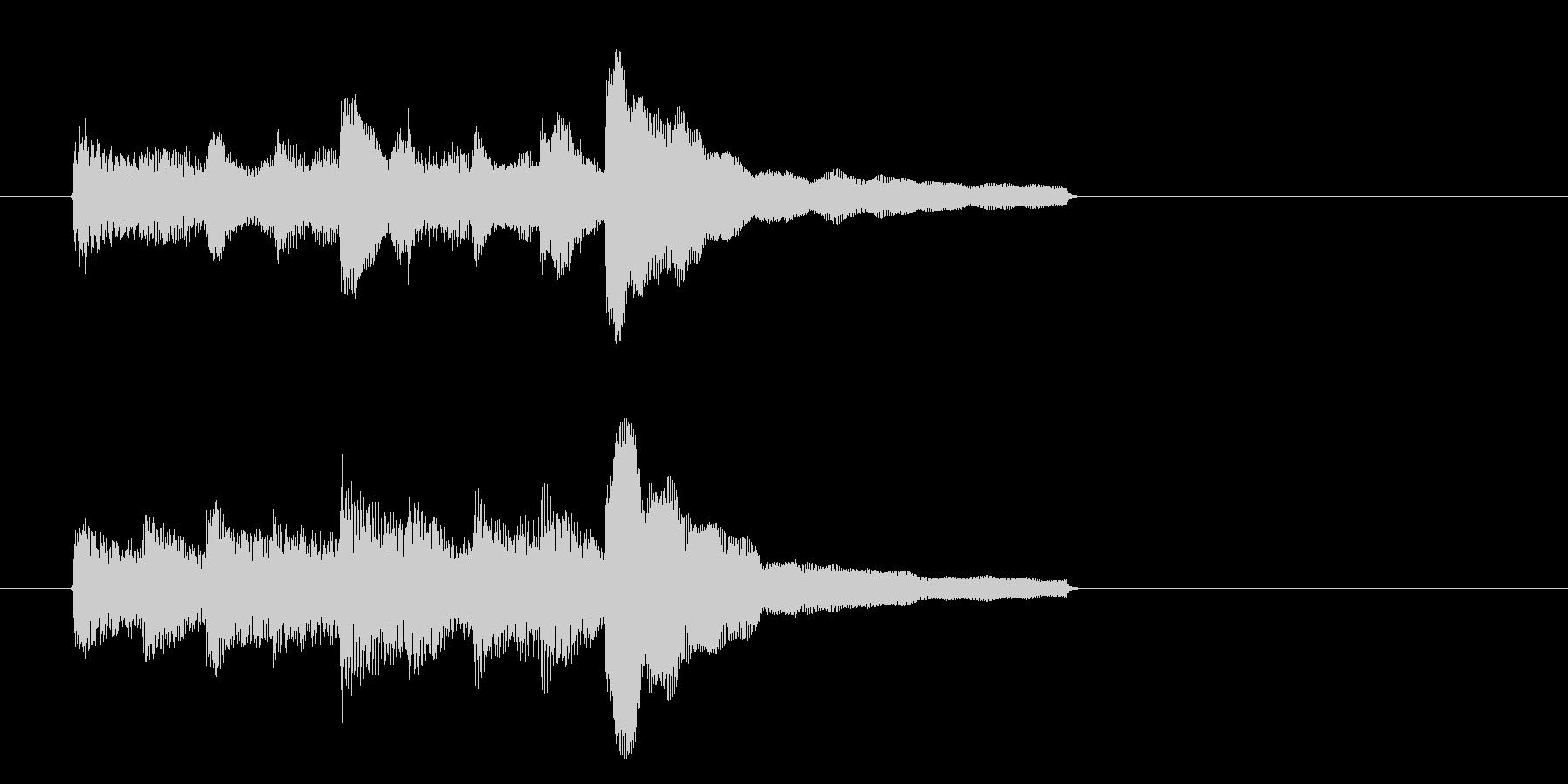 Lv.Up等ステータスが上昇時のジングルの未再生の波形