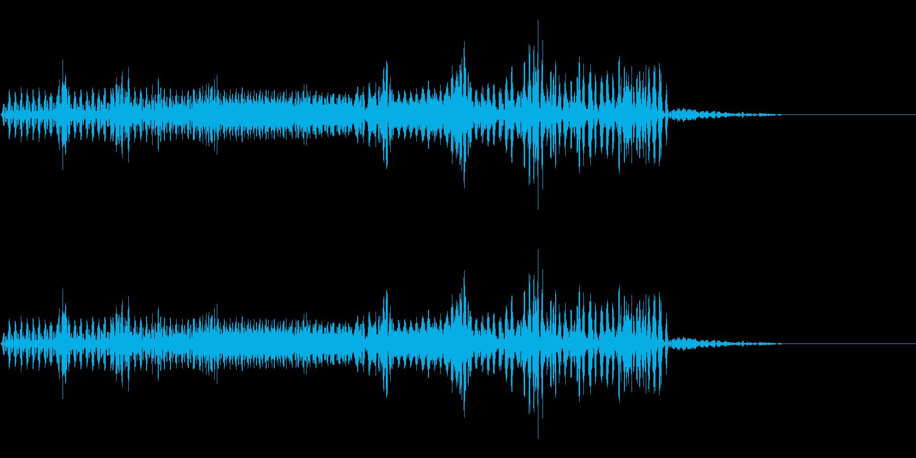 【SE 効果音】不気味な音の再生済みの波形