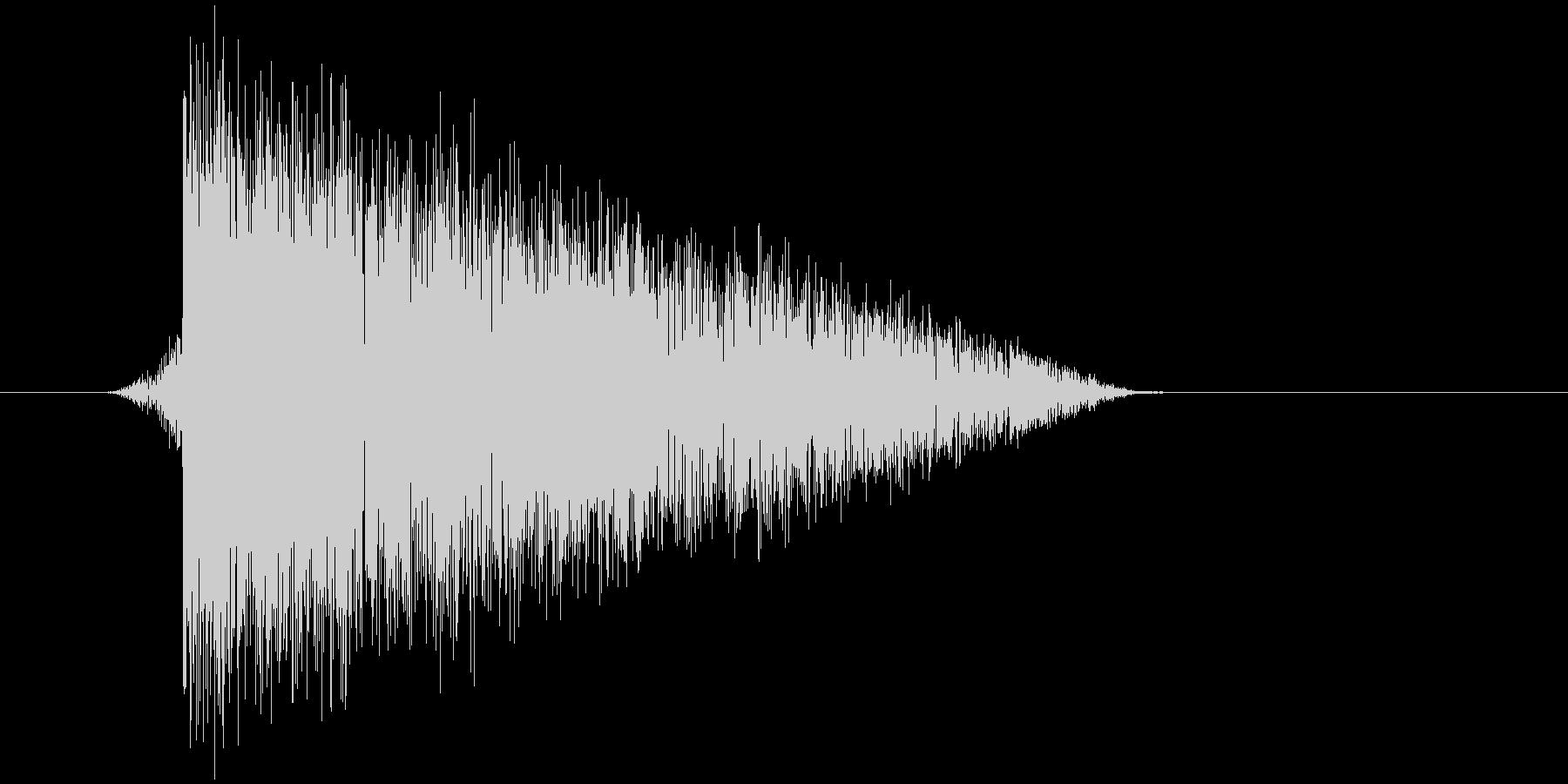 ゲーム(ファミコン風)爆発音_013の未再生の波形
