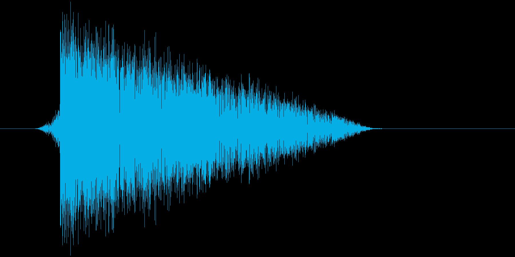 ゲーム(ファミコン風)爆発音_013の再生済みの波形