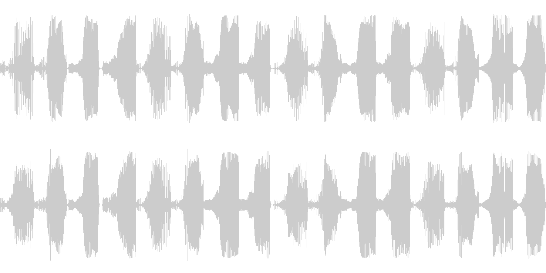 bassの未再生の波形