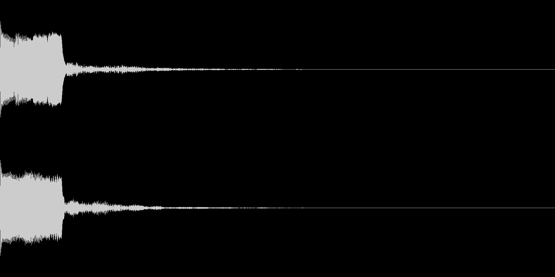 決定音30(シンセO)の未再生の波形