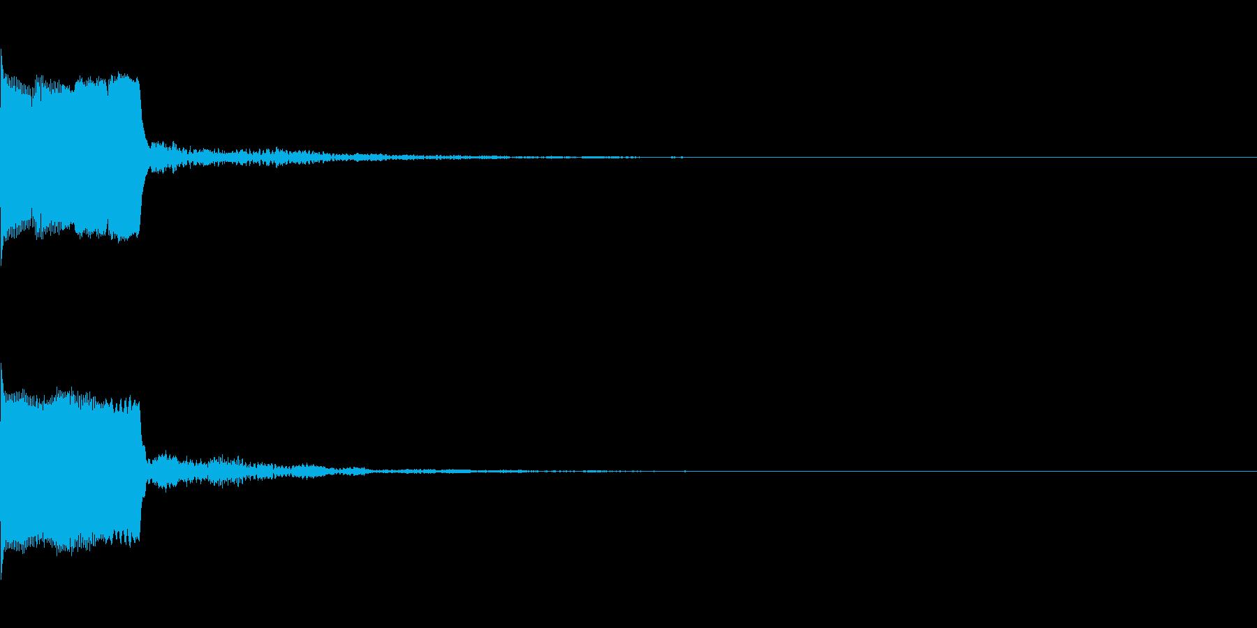 決定音30(シンセO)の再生済みの波形