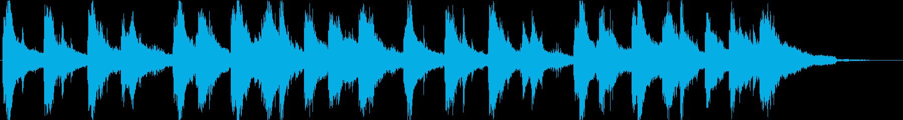 きらめくような感動的なピアノソロ楽曲の再生済みの波形
