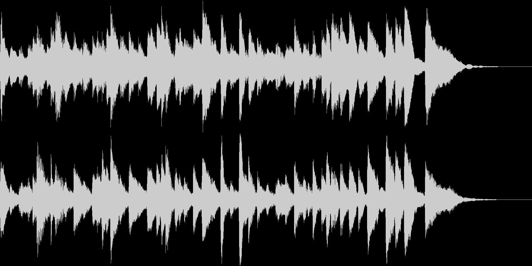 コミカルなクラシックBGMの未再生の波形