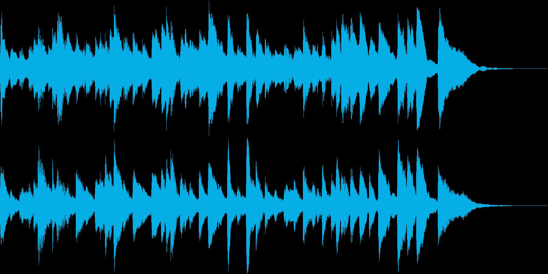コミカルなクラシックBGMの再生済みの波形