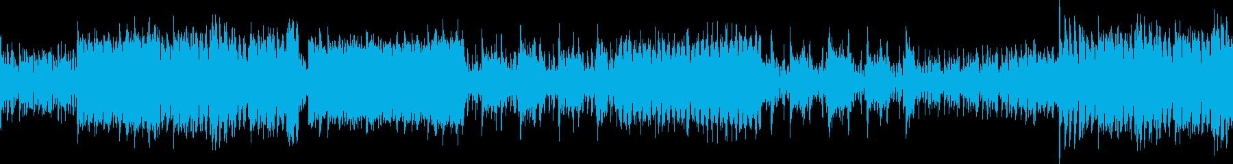 EDM風、クラブミュージックの再生済みの波形